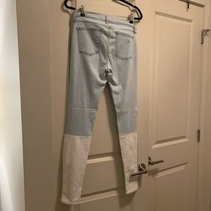 J Brand Stepped Back Skinny Jeans dual tone!